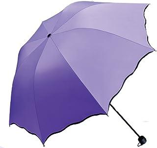 Solparaply damer UV parasoll paraplyer för kvinnor hopfällbart parasoll vattentätt UV-paraply för solskydd blomma magi lät...