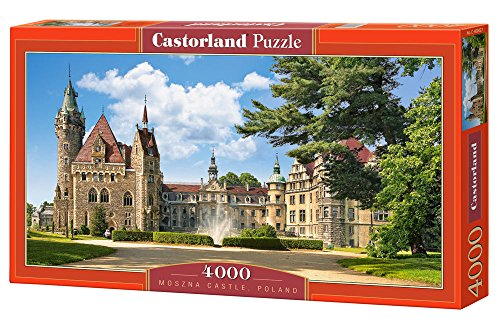 Castorland C-400027-2 Moszna Castle, Poland,Puzzle 4000 Teile, Red