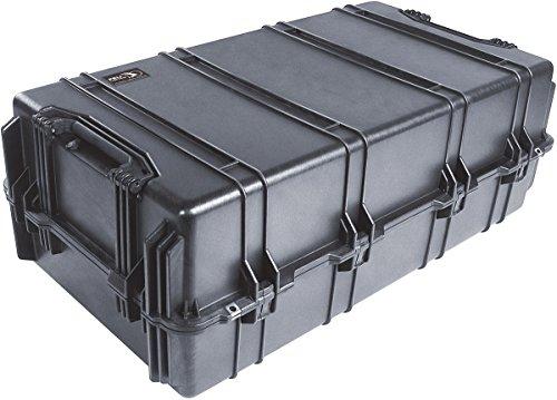 PELI 1780 large conteneur de transport à usage intensif, IP67 étanche à l'eau et à la poussière, capacité de 216L, fabriqué aux États-Unis, sans mousse, noir