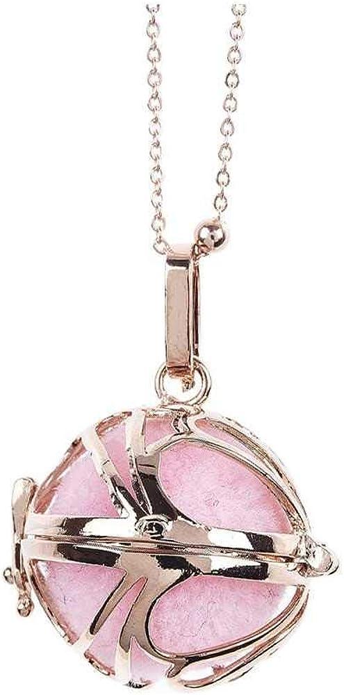 Boccadamo, collana per donna, in bronzo placcato oro rosa con pendente apribile e batuffolo rosa Bt/Gr04