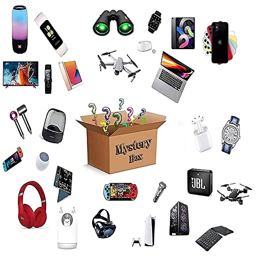 GDICONIC Scatola cieca Mystery Box Electronics, Mystery Boxes Random, Birthday Surprise Box, Lucky Box for Adults Surprise Gift, Such As Drones, Smart Watches, Gamepads And More, Best Gift for Holiday