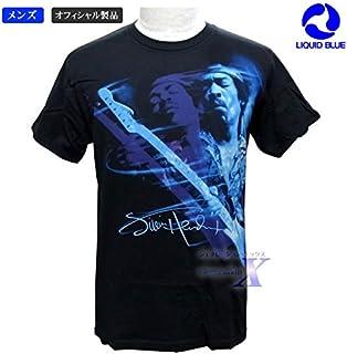ジミー・ヘンドリックス公式メンズTシャツ(ブルー)リキッドブルー製