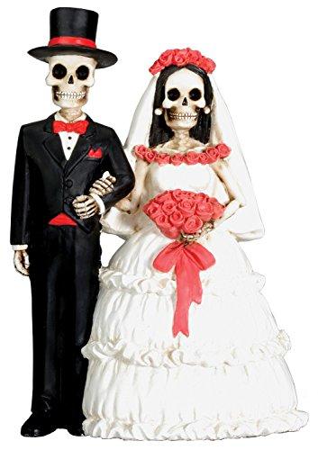Dod Wedding Couple Skeleton Collectible Sculpture Art