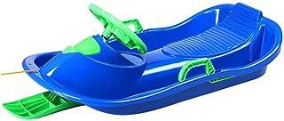 luge dext/érieur pour enfants en hiver LKOER Luge de sport en plastique /épais pour enfants avec cordons de serrage planches de sable avec rampes toboggans