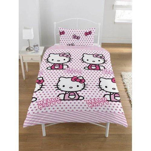 Juego de cama de funda de edredón + funda Hello Kitty
