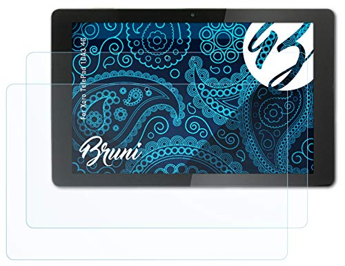 Bruni Schutzfolie kompatibel mit Xoro TelePad 10A3 4G Folie, glasklare Bildschirmschutzfolie (2X)