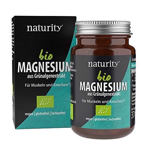 BIO MAGNESIUM, 250 mg rein pflanzliches Magnesium, zur Unterstützung von Muskeln und Knochen, aus Bio-Grünalge (60 Tabletten)