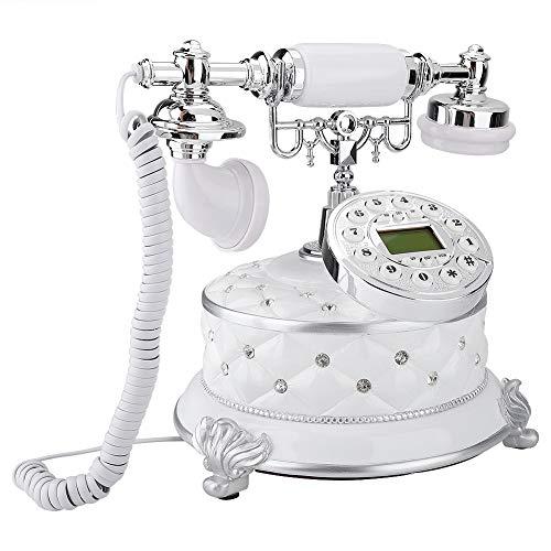 Ufolet Teléfono Antiguo, Multifuncional, imitación de Piedras Preciosas, Decorativo, Duradero, práctico, teléfono Retro, para Hotel en casa
