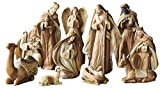Raz 9.5' Resin Christmas Nativity Figurine Set of 11 Pieces