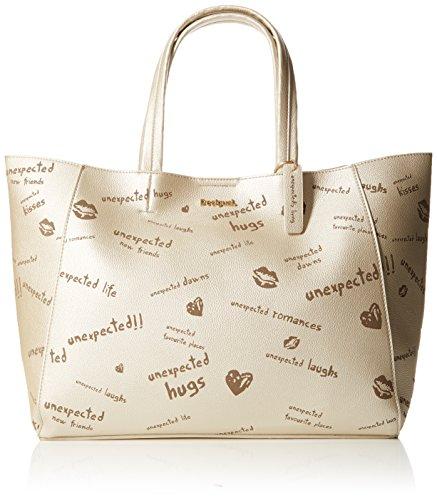 Desigual - Bols_tell Me Cuenca, Shoppers y bolsos de hombro Mujer, Schwarz (Oxford Gray), 16.5x30x37.29 cm (B x H T)