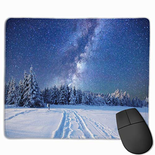 Milky-Way Gaming Mouse Pad Custom Rectangle Mousepad Computer Gaming Mouse Mat Non-Slip Rubber for Pc and Laptop