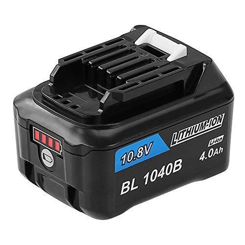 Enermall 互換 BL1040bマキタ 10.8v バッテリー互換 4000mAh LED残量表示付き リチウムイオン電池A-59863 CL106FD CL107FD CF101DZ対応 BL1015 BL1040 BL1050 BL1060に対応
