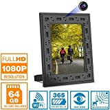NuCam Yieye WiFi Photo Frame Hidden Spy Camera w. 1080P Full HD 64Gb Card Included 365 Days Standby Battery Life Night Vision & Instant Alerts for Home/Office Security Surveillance (2020 Version)
