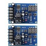 XH-M603 batería Carga de la placa del módulo, 12-24 de carga interruptor de control de voltaje Protección de visualización portátil Controlador de 2 piezas multifuncional