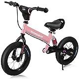 Deuba Draisienne pour Enfants Rose Rennmeister vélo sans pédale Suspension Max 50kg Freins Tambour Rembourrage Anti-Choc Selle Cyclisme