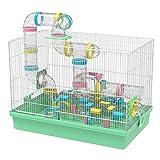 GNB PET Grand Cage à Hamster DIY Habitat 20''x12''x15'' avec Achevé Tube Tunnel Module Jouets pour Gerbille Souris (Vert)