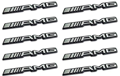 Unbekannt 10x AMG Sticker Emblem Logo Aufkleber Mercedes C CL CLS E S SL SLK ML GL B 63 GLE
