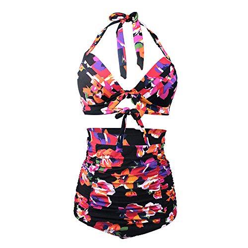 Jmsc Costume da Bagno Tankini Sets Donna Due Pezzi Halter Swimsuit Donna Costume da Bagno Vita Alta Pantaloncino Sexy Swimsuit Mare Spiaggia Piscina Party Vacanza S
