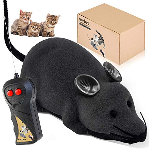 Rofesi Wireless Remote Control Mouse Toy, Electronic RC Rat Flocking Mouse Interactive Cat Toys Moves Like a Real Mice, Fun for Cats Dogs Pets