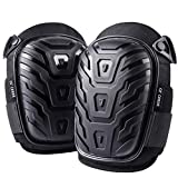Professional Knee Pads for Work - Heavy Duty Foam Padding Kneepads for Construction, Gardening, Flooring with Comfortable Gel Cushion to Save Your Knees (Knee High)