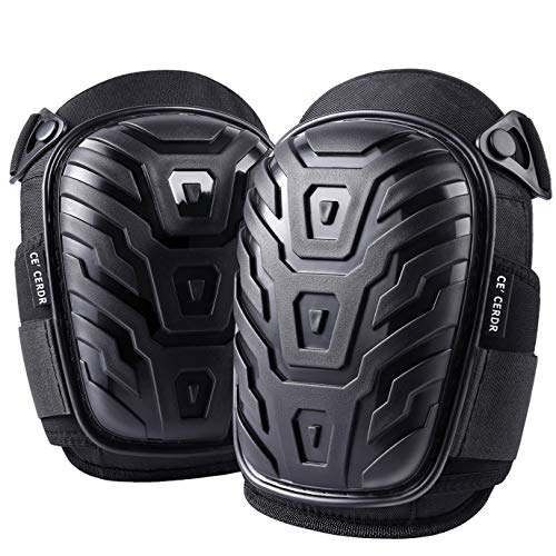 Professional Knee Pads for Work - Heavy Duty Foam...