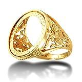 Anello da uomo in oro massiccio 9 kt con simbolo del drago di San Giorgio, misura V