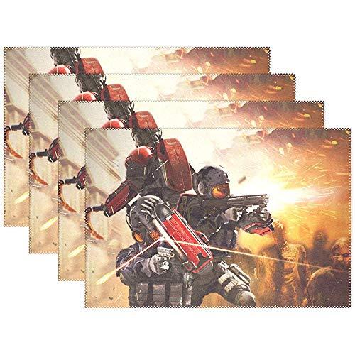 Napperons Resident Evil Umbrella Corps Pour Napperon Pour Table De Cuisine Tapis De Table Résistants À La Chaleur En Polyester 18X12 Pouces Ensemble De 6 [45X30Cm]