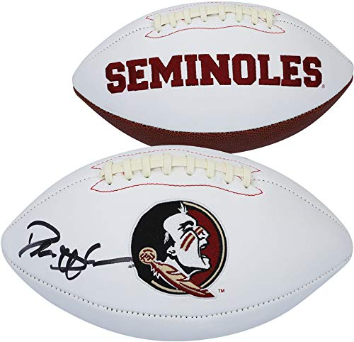 Deion Sanders Florida State Seminole Autographed White Panel Football - Fanatics Authentic Certified