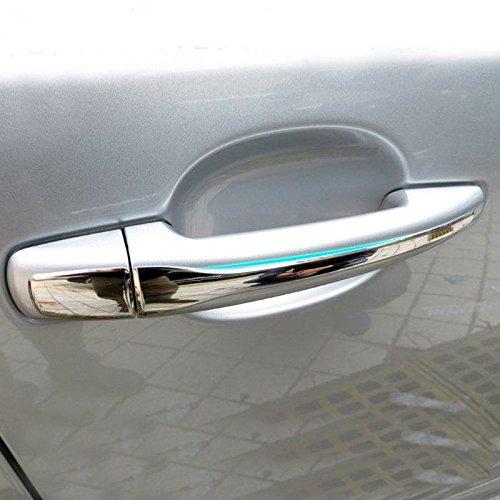 extérieur en acier inoxydable Chromé Poignée de porte latérale Trim de Coque 8 pcs pour 3008 2009 - 2015 accessoire Auto