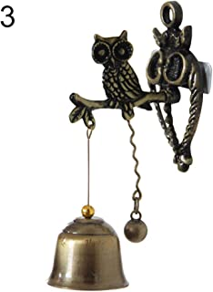 litymitzromq Christmas Tree Ornaments, Vintage Horse Elephant Owl Shaped Bell Doorbell Halloween Hanging Door Decor for Kids Cats Dogs Xmas Decoration DIY Craft Holiday Party Decoration