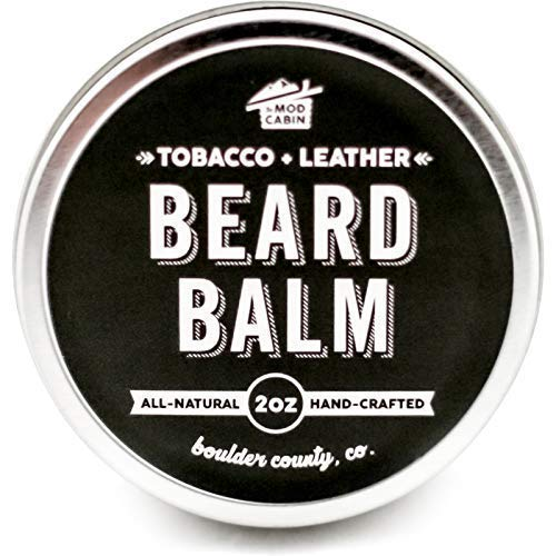 Tobacco & Leather Beard Balm - All Natural, Hand Crafted in USA