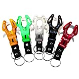 Tiger Hook Lock Carabiner,5 Pack Clip Keyring Aluminum Locking Carabiners Camp Camping Snap Hook Hiking Keychain for Outdoor Camping Hiking Fishing Random Color