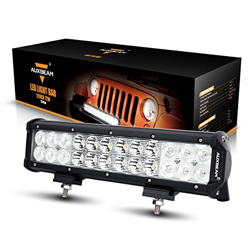 "Auxbeam LED Light Bar 12"" 72W Driving Light 24pcs 3W CREE Light Combo Beam Waterproof"