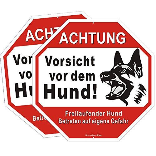 2tlg. Sicherheitsschilder Vorsicht vor dem Hund