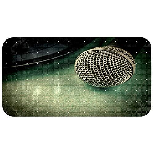 CHINFY Alfombrilla de baño con micrófono antideslizante para bañera o ducha, alfombra de PVC con ventosas agujero de drenaje, 37,3 x 68,3 cm