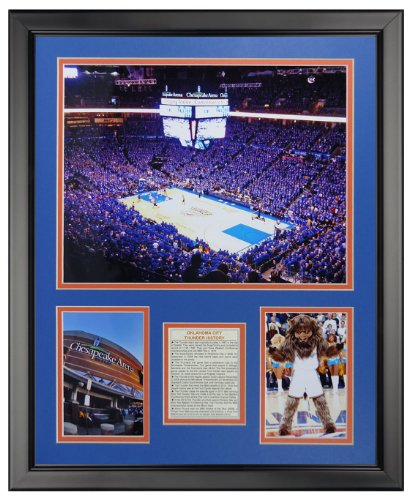 Oklahoma City Thunder NBA Double Matted 8x10 Photograph Team Logo and Basketball