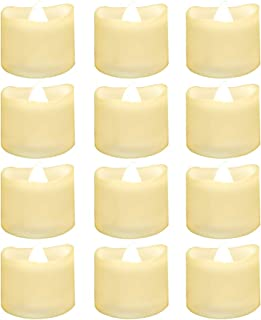 12PCS Electric Candle Light Realistic and Bright Flickering with Built-in Timer Flameless LED Tea Light for Seasonal and Festival Celebration Electric Fake Candle Lamp