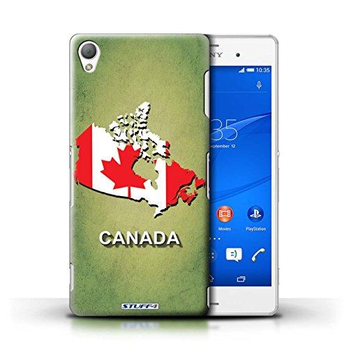 Stuff4 Custodia/Cover Rigide/Prottetiva Stampata con Il Disegno Nazioni Bandiera per Sony Xperia Z3 - Canada/Canada
