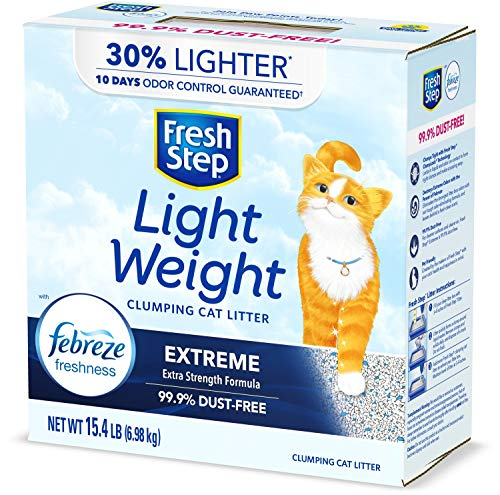 Fresh Step Lightweight Extreme Cat Litter, Scented with Febreze, 15.4 Lb