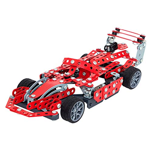 PWTAO Building Toys Erector Set STEM Toys Cars Building Blocks Metal Construction Kits Model Cars Kits Educational Toys Learning Toys for Boys Girls Kids of Ages 6 7 8 9 10 11 12 13 14 Years Old