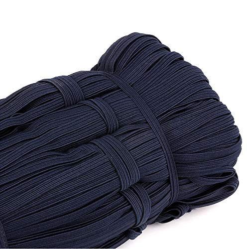 Flat Elastic Band, 1/4 inch 6mm 33 Yards Braided Stretch Strap Cord Roll for Sewing and Crafting