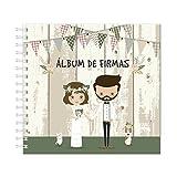DISOK Nuevo Álbum de Firmas Novios Bodas - Álbumes de Firmas Originales y Modernos para Bodas, Enlaces y Matrimonios....