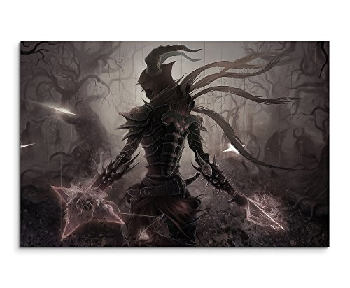 Diablo 3 Artwork Wandbild 120x80cm XXL Bilder und Kunstdrucke auf Leinwand