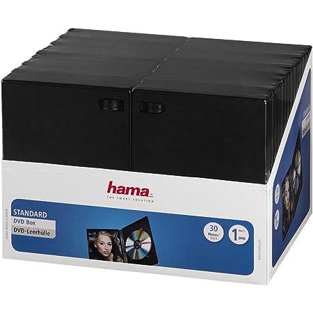 Hama 11495 - Pack de 30 Cajas para CD/DVD, Negro