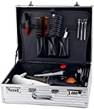 LCJD Caja de Herramientas de barbero, Maleta de Almacenamiento, Estuche de Vuelo de Aluminio, Caja de Herramientas, Organizador de Herramientas, Caja de Almacenamiento con Cerradura, 2 cerraduras