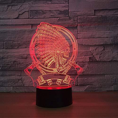 Jiushixw nachtlampje, acryl, 3D, met afstandsbediening, kleur tafellamp, managerhuishouden, multi-familie, huis, vriend, cadeau marmer, tafellamp