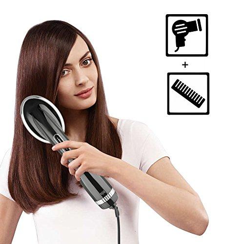 Cepillo secador de pelo, cepillo de pelo eléctrico de iones con función de...