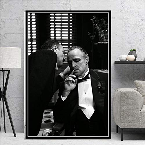 PLjVU Posters and prints sales Classic Godfather Movie Big Brother Actor Canvas Painting Mural Living Room Home Decoration-Frameless