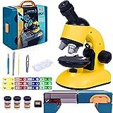 Microscopio para Niños Kit de Juguete Microscopio Infantil con Ampliación 100 x 400 x 1200 x y Iluminación LED, Juguete Educativo para Niños Principiantes Niños Estudiantes 8 Años en Adelante
