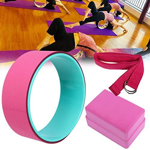 FOLOSAFENAR Dureza Moderada Fitness Cinturón elástico Rueda de Yoga para Deportes